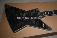 2014 New Arrival Guitar High Quality G Custom shop ebony fingerboard 1958 Korina Explorer Black Electric Guitar Free Shipping