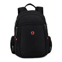 Vintage Swiss business laptop  backpacks bags ; waterproof outdoor sport zipper backpack , men notebook  mochilas rucksack