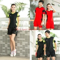 Lining/Li Ning/Li-Ning Badminton Clothing Set Men and Women Sportswear Shirt+Shorts Ladies Sport Suits Accept Personalize L126