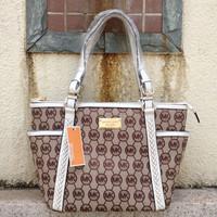 2014 Hot Sale Fashion Women PU Bags tote shopping handbag Shoulder Bag /Brown/White/Free shipping
