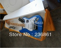 Free shipping new arrival F stratocaster Shallow blue richie sambora signature star inlay tremolo Electric guitar