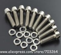 10pcs M5X18 Titanium Ti t Taper Head Bolt Screw+10pcs Titanium Spacer