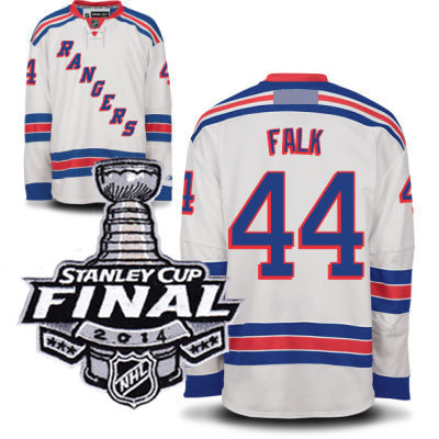 Justin falk 44 2014 stanley cup finale patch new york rangers r weiß