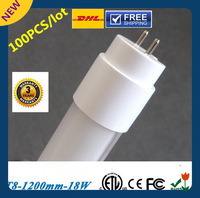 DHL Free shipping NEW ENCONOMIC LED TUBE 100pcs/lot 18W 1200MM T8 LED Tube Light SMD2835 78led/PC 220V