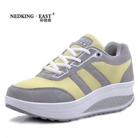 Hot Selling New 2014 Fashoin Leather Casual Sport Running Shoes Summer Breathable Sneakers for Women
