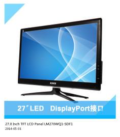 27.0 Inch IPS LCD Panel TFT LCD Dispaly LM270WQ1-SDF1 2560 RGB*1440 DisplayPort LCD Screen(China (Mainland))