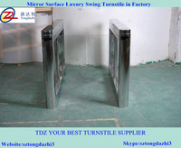 Waist height turnstile,stainless steel swing barrier for industrial factory, library, amusement park