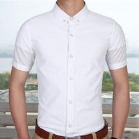 mens dress shirts solid color slim fit men's dress shirt  short sleeve cotton freeshipping M L XL XXL XXXL 922