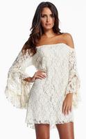 EAST KNITTING SL-008 2014 New Clubwear Brand Sexy Lace Off Shoulder Dress