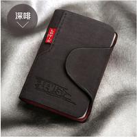 New 2014 women/men genuine leather famous designer brand business bank credit Card holder bag case membership card bag/wallet
