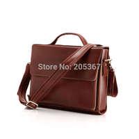 J.M.D 2014 Fashion Brown Leather Handbag   Mens Leather Messenger Bags  Mens Briefcases #6033X
