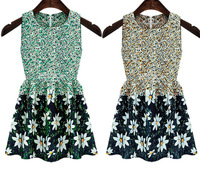 Summer Dress 2014 Fashion Small Fresh Tank Dress Women Work Wear Sleeveless Chiffon One-piece Dress Sweet Princess Dresses A 55