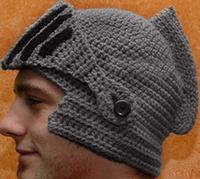 Autumn and winter handmade yarn knight cap helmet ear hat masks