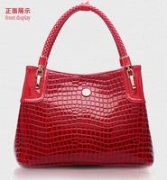 2014 new designer women's handbag genuine leather female luxury elegant shoulder bag Crocodile European style messenger totes