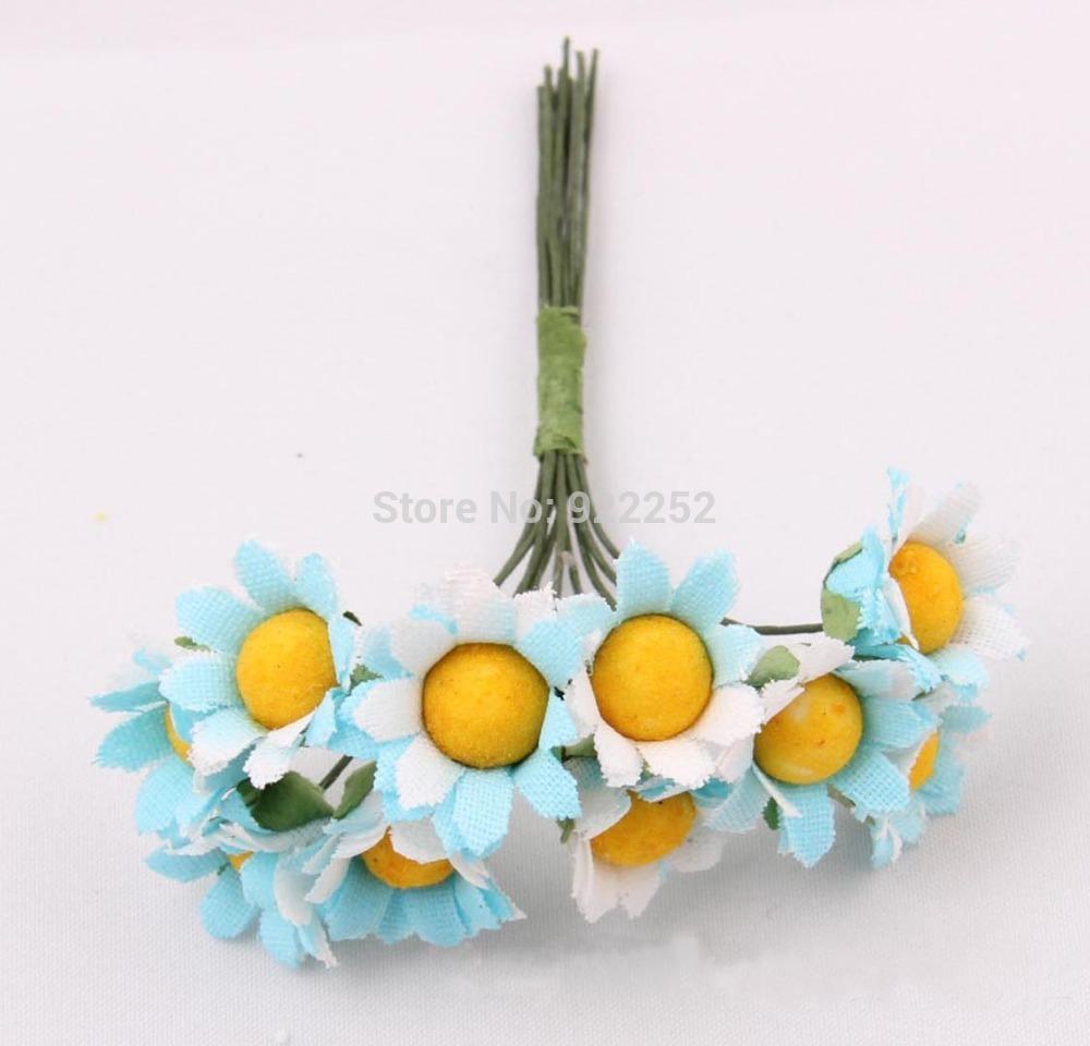 artificial cheap silk daisy,mini chrysanthemum flower bouquet,diy craft wedding party floral arrangement&decoration hair garland(China (Mainland))
