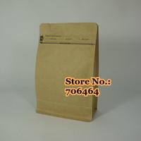 Freeshipping ziplock 1/2pound kraft aluminum foil anti-moisture coffee bean packaging bags kraft packaging bags drip coffee bag