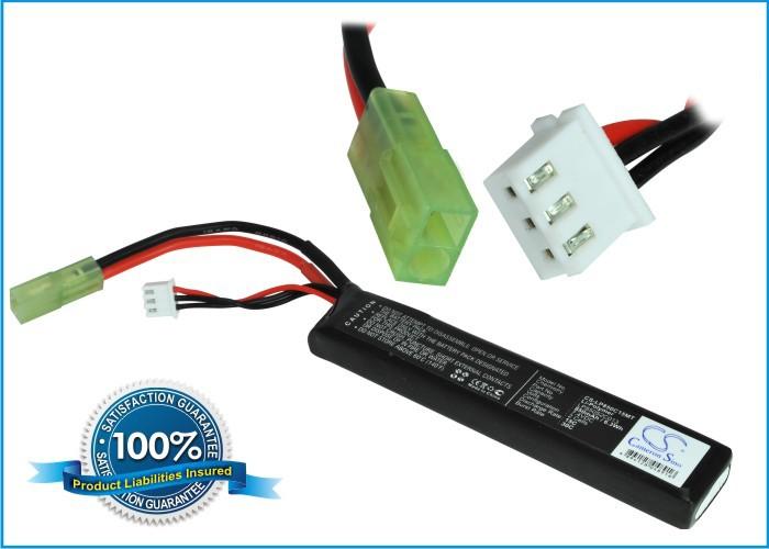 Discount RC, Airsoft Gun Battery For Toys Ni-MH Airsoft Guns Batteries Mini Tamiya Connector CS-LP850C15MT Free Shipping(China (Mainland))