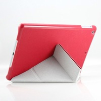 5 Pcs/lot Newest Arrival Luxury 4 Shapes Transfomer  Leather Case  for Apple ipad air/ipad 5  with Stand Slim Utrathin Design