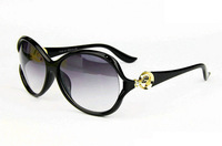 Freeshipping New 2014 Fashion Women's Retro Sports Sunglasses Hollow Designer Golden Leopard Head Frames Glasses Oculos sg237