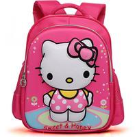 2014 New arrived Schoolbag for children Cartoon KITTY printed school bag Kids girls lovely satchel High quality school backpack