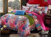 Flower jacquard bedding set king size brand comforter set queen bed cover duvet cover