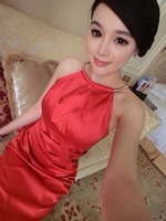 2014 new summer fashion party Ladies Sexy Couture runway halter neck sleeveless Tuxedo  one-piece dress