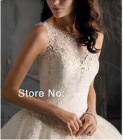 Free Shipping  Custom Made  New Fashion back  V-neck Wedding Dresses Wedding Gowns