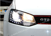 VW Cross Polo LED Head Lights with Bi Xenon Projector Lens 2011-2013 year TC POLO, POLO CROSS, POLO GTI  headlight