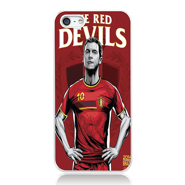 !New 2014 Brazil World Cup 32 teams Posters Luxury case Cover iphone 5 5s Hard Case Belgium Soccer star