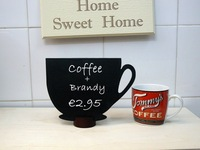 50pcs BLACKBOARD COFFEE CUP Table Talker wedding favor party useful Decoration name card holder