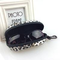 Wholesale Glasses Case Fashion Leopard Grain Peanuts Box  Sunglasses Case Women Men Spectacles Cases Factory's  Direct Selling