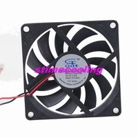 2pcs/lot GDT 5V 2P 80mm 8cm 80*10mm 8010 Ventilation Motor DC Cooling Fan