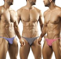 Navy striped Thin edge U hot sexy briefs men's underwear
