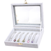 New 2014 Fashion jewelry Accessories box necklaces & pendants storage box necklace wedding gift birthday Freeshipping