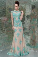 2014 New Arrival Fashion Berta Zuhair Murad Elegant Evening Dresses Long Appliques Mermaid Blackless Tarik Ediz Robe De Soiree
