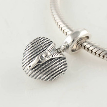 Fits Pandora Bracelet DIY Making Authentic 100% 925 Sterling Silver Dangle Beads Heart luggage Charm 2014 Women Jewelry