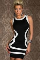 Europe and America Style Striped Dress O neck SLim Sheath /shape the hip Women Sexy Club Dresses 2014