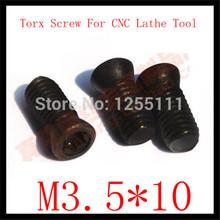 50pcs M3.5x 10 Insert Torx Screw for Replaces Carbide Inserts CNC Lathe Tool