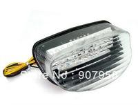 "Motorcycle Clear LED Tail Light For "" H "" 97-1998 CBR1100XX BlackBird CBR Turn Signal"