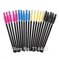 50sets=2500pcs Colorful Disposable Eyelash Mini Brush Mascara Wands Applicator Spoolers Makeup Cosmetic Eyelash Brush