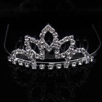 2014 Pretty Silver Plated Tiaras Wedding Bridal Crystal  Crown Tiaras