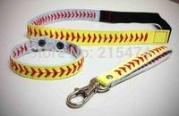 DHL free shipping Softball accessories,softball headbands,softball bracelets and softball Keychains