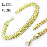 Luxury Golden Men Bracelet 316L Stainless Steel 18K Gold Bracelet