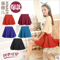 New Arrival Women's Fashion A-Line Solid Sheds Mini Shorts Skirts Preppy Style Sun Skirts Free Shipping WBD011