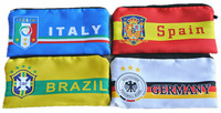 Free shipping,high quality ,hot sell Zero Wallet,2014 Brasil World Cup national team logo Cotton filling mobile phone bags