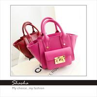 Wholesale 2014 new style famous brand women handbag designer leather SMILEY totes high quality kids handbag fashion candy colors