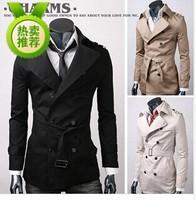 Men's 2014 Spring Fashion New Winter Coat Men Windbreaker Jacket  High-Quality Cotton Long Coat Men Windbreaker Jacket Trench