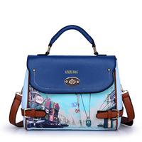 Hot Sale 2014 Fashion Print Women Leather Handbags Shoulder Messenger Tote Cross body Bag Wholesale Free Shipping