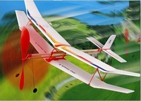Free shipping Rubber band powered biplane,DIY Toy,Model plane