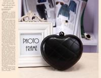 2014 New Arrival Mini Chain Wallet Messenger Bag Pouch Women PU Leather Handbags Day Clutche Heart Shape FA6102